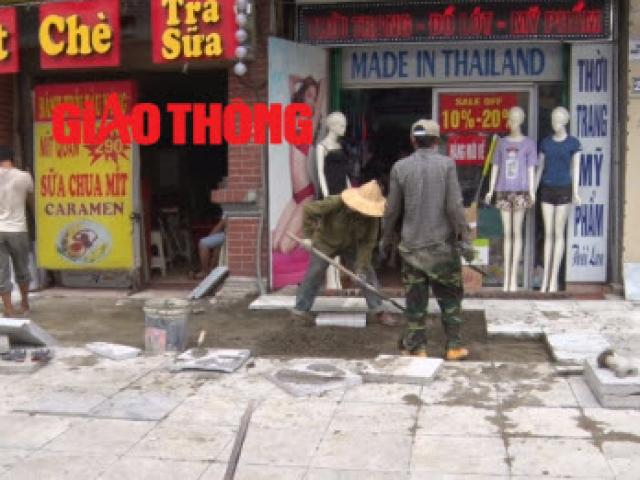 Hà Nội: Công trình lát đá vỉa hè mới làm xong đã nát bét - 13