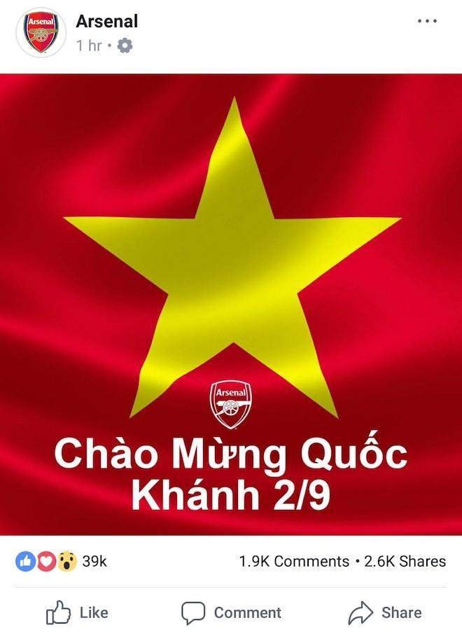Bất ngờ nhận hàng loạt lời chúc mừng Quốc khánh 2/9 từ Dortmund, Bayern, Arsenal, Chelsea... trên Facebook - 3