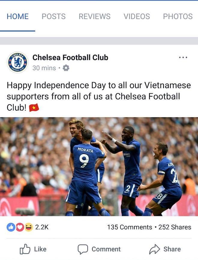 Bất ngờ nhận hàng loạt lời chúc mừng Quốc khánh 2/9 từ Dortmund, Bayern, Arsenal, Chelsea... trên Facebook - 4
