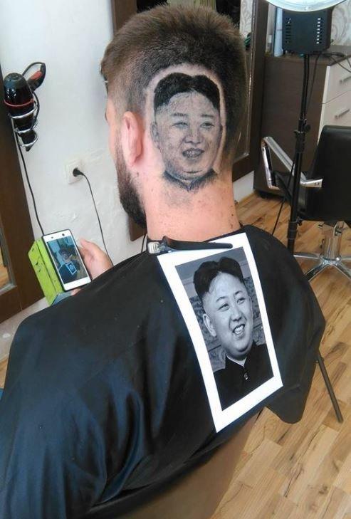 Nga: Cắt tóc ra hình khuôn mặt Kim Jong-un trên đầu khách - 1