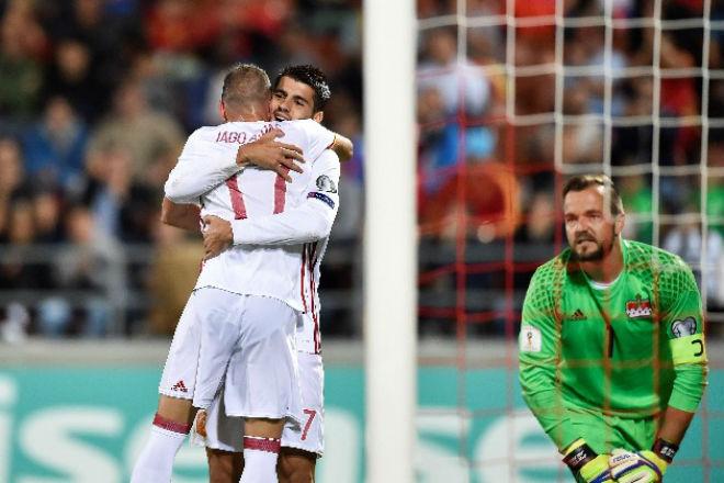 Liechtenstein - Tây Ban Nha: Morata rực sáng, hơn cả đánh tennis - 1