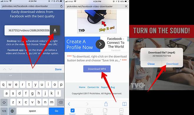 Làm thế nào để tải video hay trên Facebook bằng iPhone - 4