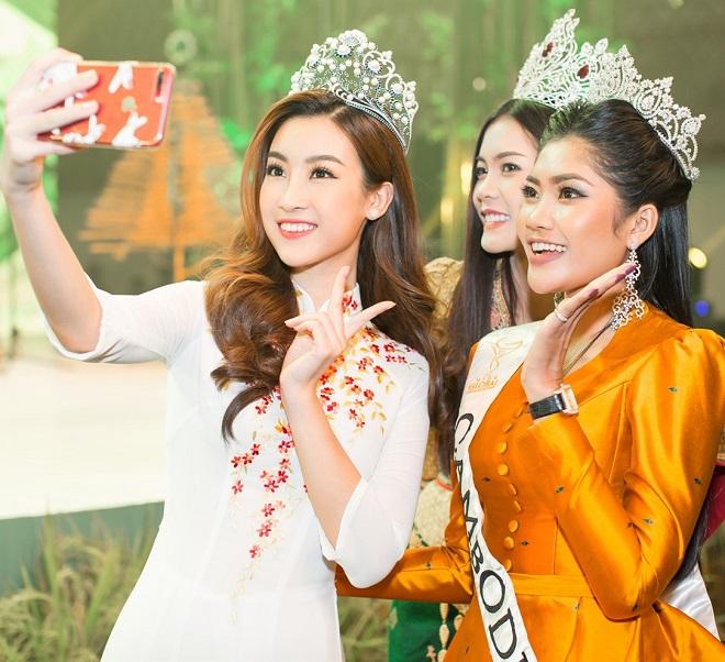 """Hoa hậu Lào """"xinh như tiên"""" lần đầu đọ sắc Đỗ Mỹ Linh - 2"""
