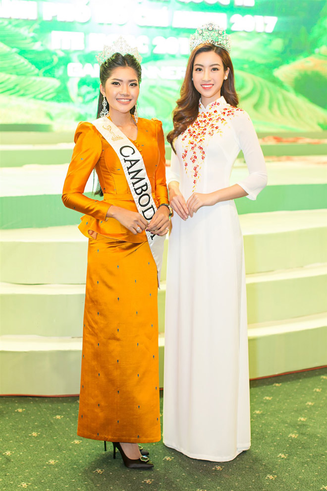 """Hoa hậu Lào """"xinh như tiên"""" lần đầu đọ sắc Đỗ Mỹ Linh - 5"""