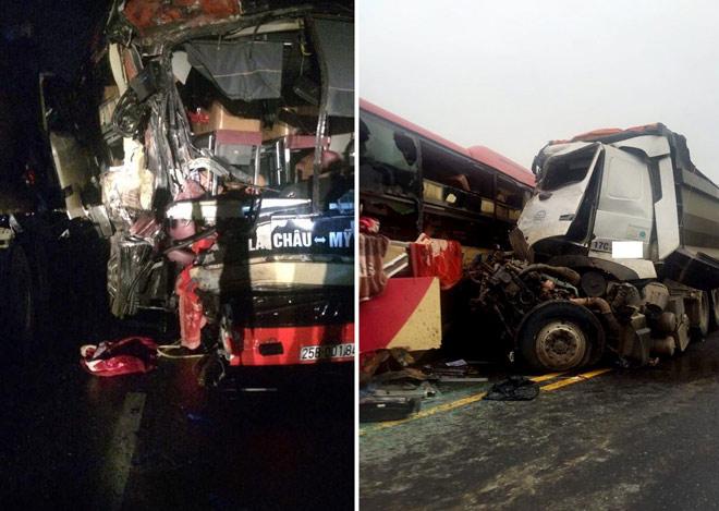 Xe khách và xe tải đâm nhau kinh hoàng, nhiều người gặp nạn - 2