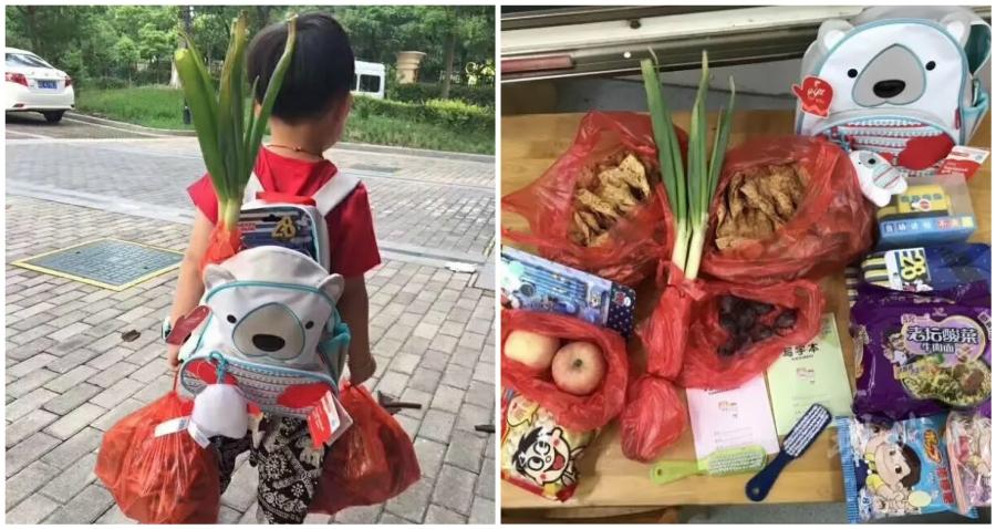 Hành trang siêu độc của nhóc tì Trung Quốc ngày đầu tiên tới trường - 1