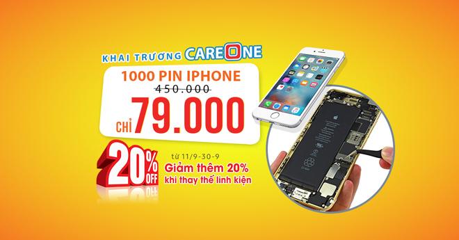 Xếp hàng chờ thay pin iPhone khuyến mãi đồng giá 79.000đ - 2