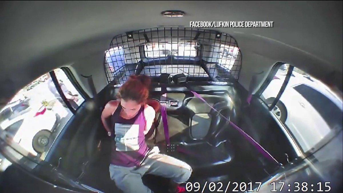 Nữ tặc Mỹ tự tháo còng, cướp xe cảnh sát trong chớp mắt - 1