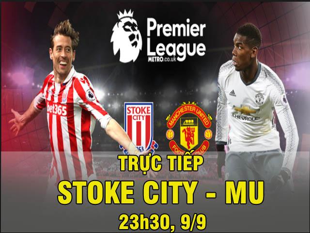 """TRỰC TIẾP bóng đá Stoke City - MU: Cẩn thận với dàn """"đồ tể"""" (Vòng 4 ngoại hạng Anh)"""