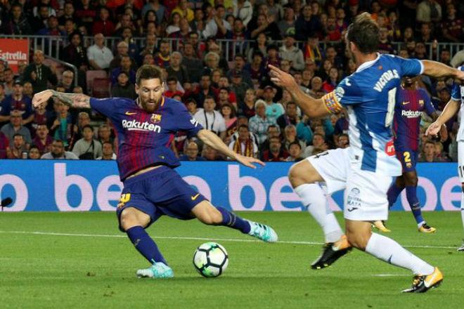 Vắng Ronaldo, Messi nối dài kỉ lục giúp Barca lên đỉnh - 1