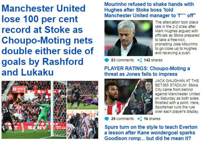 """Báo chí Anh: SAO """"0 đồng"""" hạ MU, Mourinho bị chê khiếm nhã - 1"""