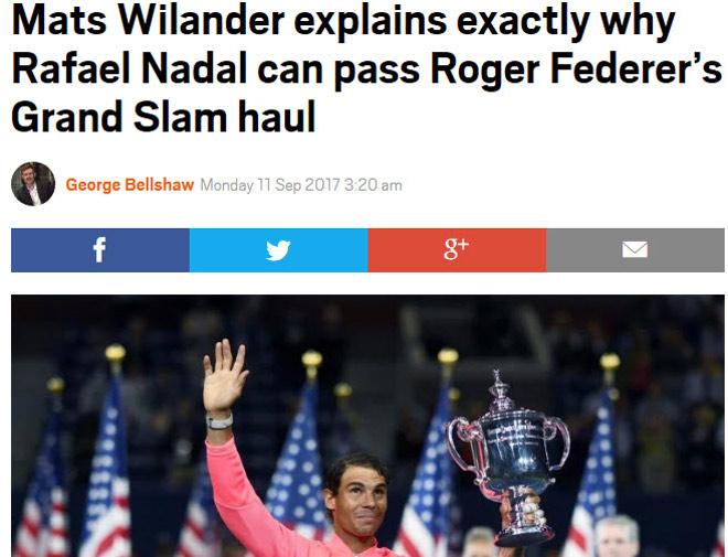 """Thống trị US Open: Nadal sắp vĩ đại nhất, Federer """"hít khói"""" - 2"""