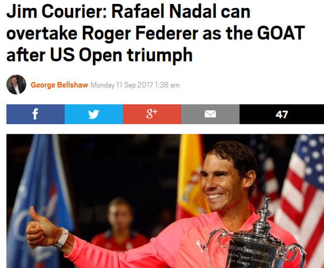 """Thống trị US Open: Nadal sắp vĩ đại nhất, Federer """"hít khói"""" - 4"""