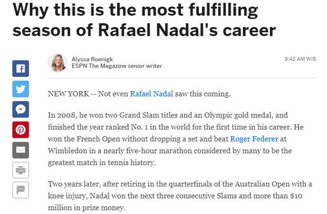 """Thống trị US Open: Nadal sắp vĩ đại nhất, Federer """"hít khói"""" - 5"""