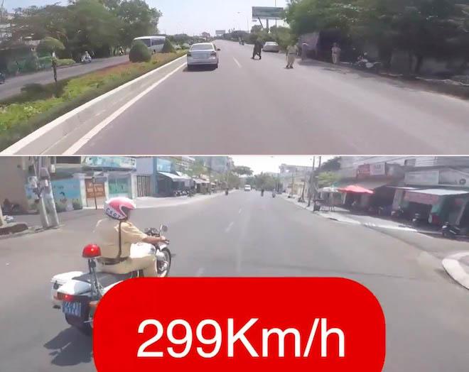 """Biker tung clip """"phóng"""" xe 299km/h, khiêu khích CSGT? - 1"""
