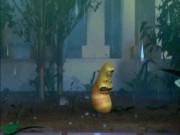 Ấu trùng tinh nghịch Larva chiến đấu với mưa