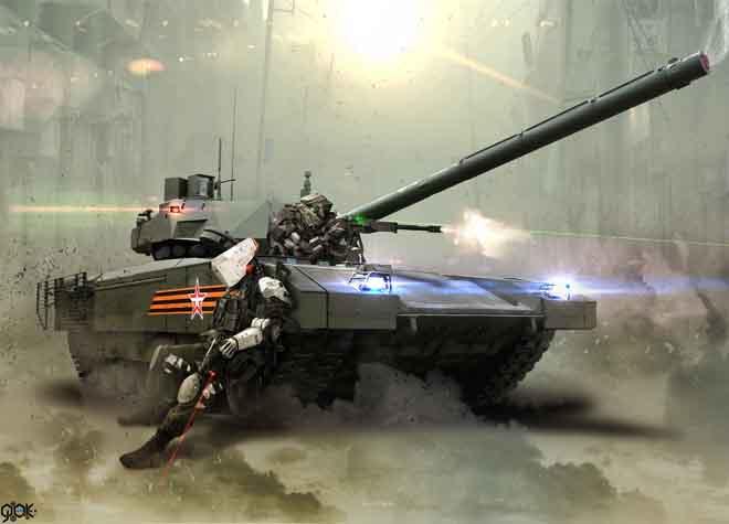 Siêu tăng Armata Nga có thể chiến đấu trên... sao Hỏa - 1