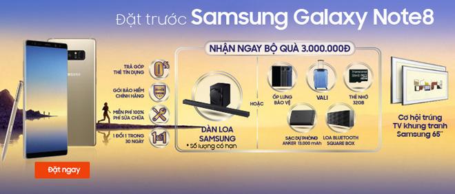 Đặt trước Samsung Galaxy Note 8 nhận quà đẳng cấp tại Viễn Thông A - 1