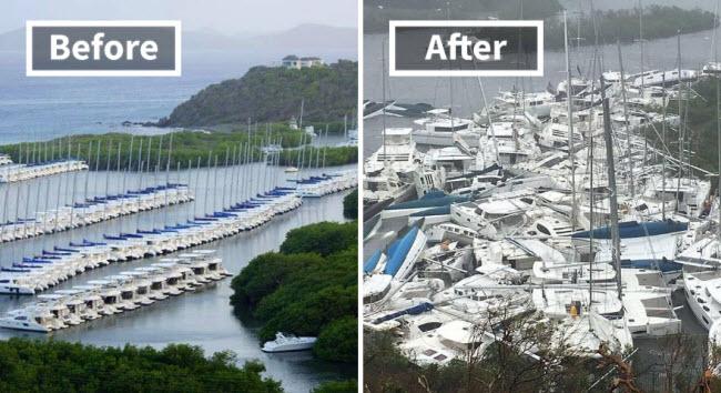 Hình ảnh sốc về những điểm du lịch nổi tiếng trước và sau bão siêu Irma - 2