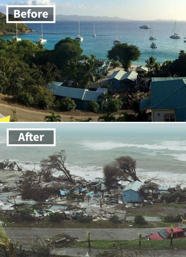 Hình ảnh sốc về những điểm du lịch nổi tiếng trước và sau bão siêu Irma - 1