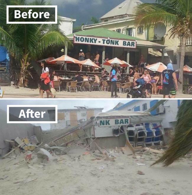 Hình ảnh sốc về những điểm du lịch nổi tiếng trước và sau bão siêu Irma - 3