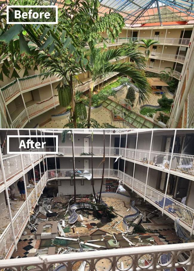 Hình ảnh sốc về những điểm du lịch nổi tiếng trước và sau bão siêu Irma - 4
