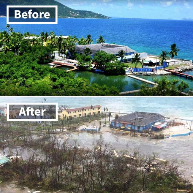 Hình ảnh sốc về những điểm du lịch nổi tiếng trước và sau bão siêu Irma - 5