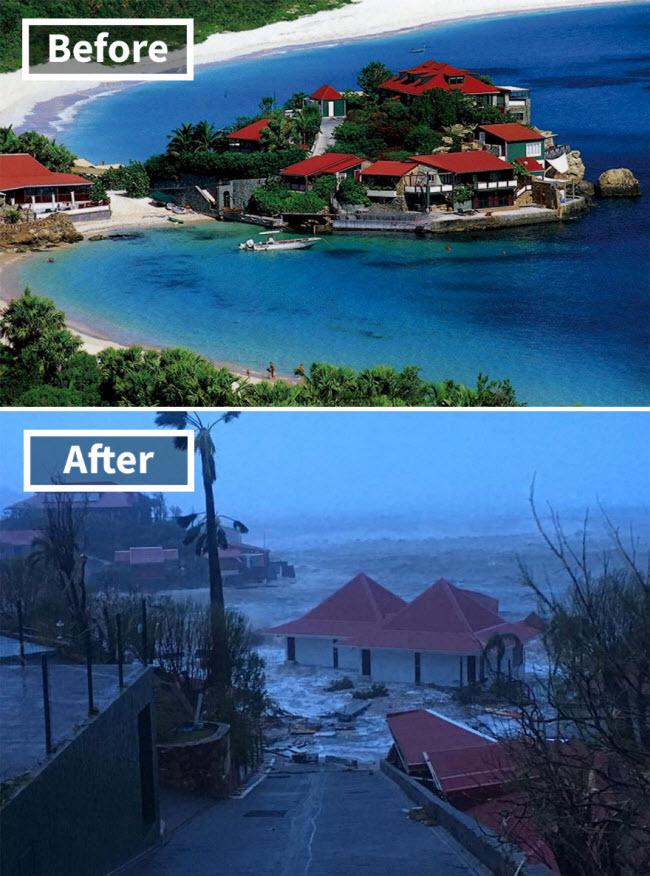 Hình ảnh sốc về những điểm du lịch nổi tiếng trước và sau bão siêu Irma - 8
