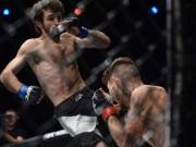 """Thể thao - UFC: """"Gấu Nga"""" tung đòn Muay Thái như bay, khóa cổ hạ đối thủ"""