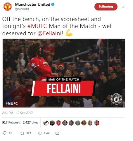 MU đại thắng Basel: Triệu fan ví Fellaini với Van Basten, Zidane - 1