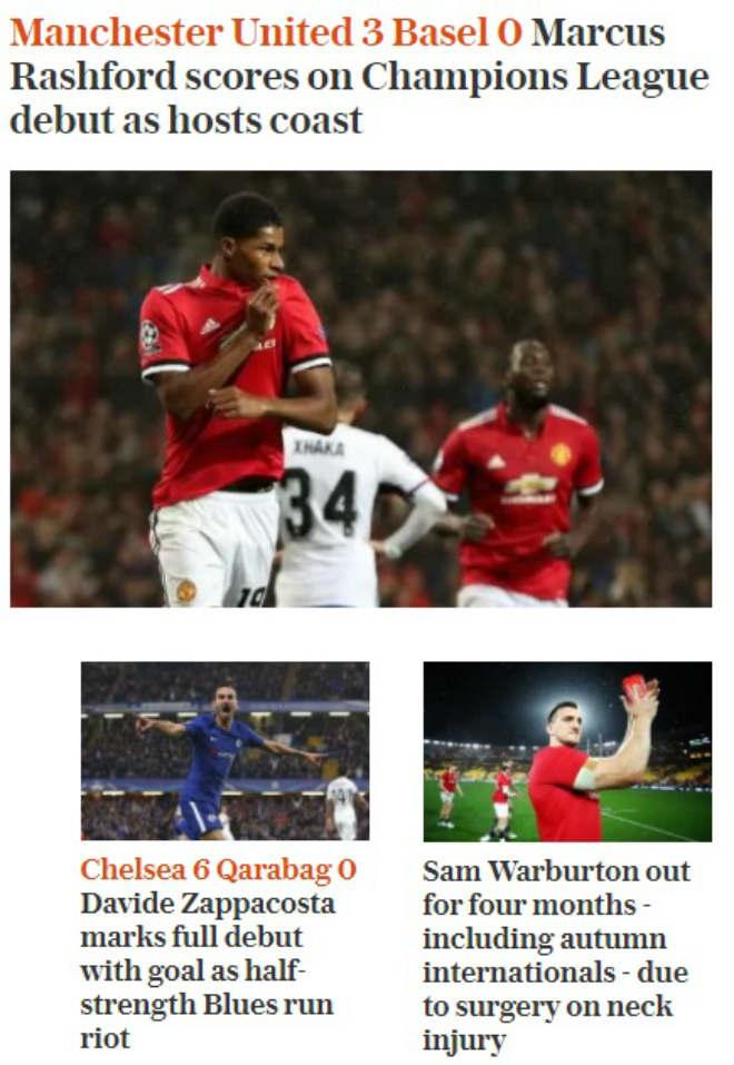 Báo chí Anh: Nổ vang trời MU, Chelsea đại thắng 9 sao - 6