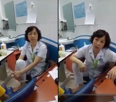 Nữ bác sĩ trần tình việc gác chân đối thoại với người nhà bệnh nhân - 1