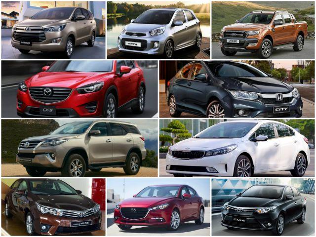 10 mẫu ô tô bán chạy nhất Việt Nam tháng 8/2017 - 1