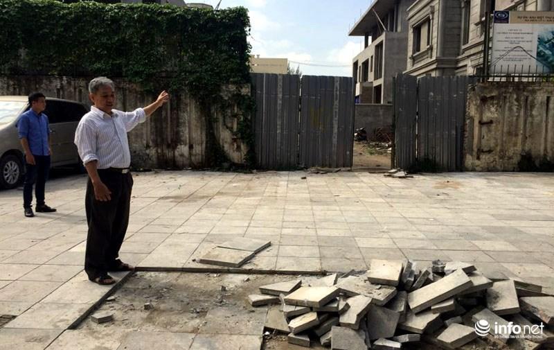 Hà Nội: Công trình lát đá vỉa hè mới làm xong đã nát bét - 8