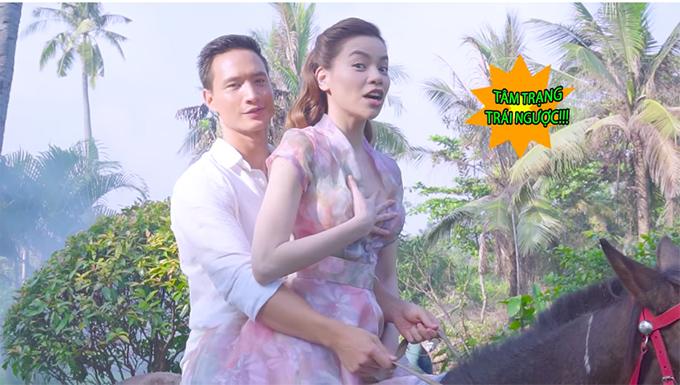 """Sự thật """"phũ phàng"""" khi Kim Lý, Hồ Ngọc Hà cưỡi ngựa trong MV 18+ - 4"""