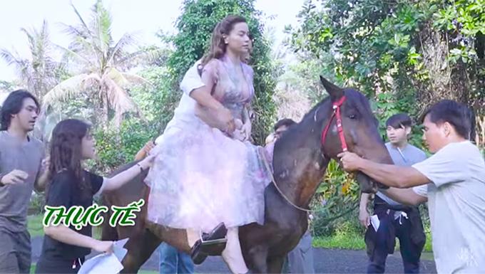 """Sự thật """"phũ phàng"""" khi Kim Lý, Hồ Ngọc Hà cưỡi ngựa trong MV 18+ - 5"""