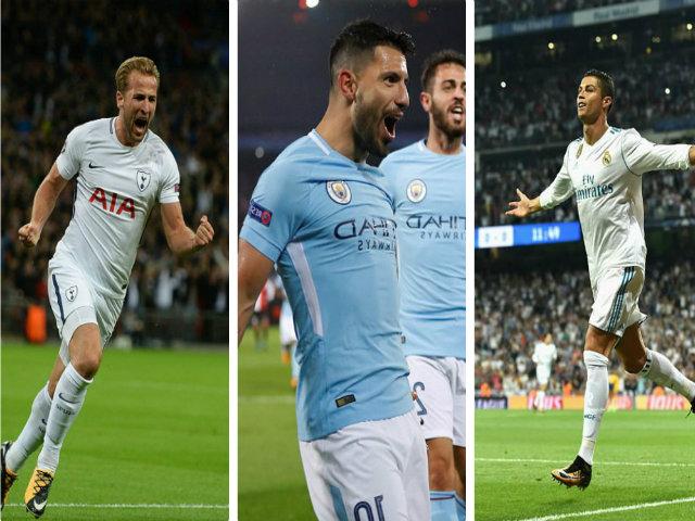 Siêu tiền đạo Champions League rực sáng: Ronaldo hòa nhịp Kane, Aguero