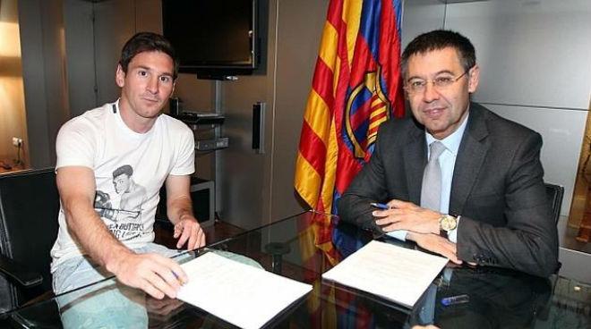 Messi ký hợp đồng mới với Barca: Bố ký hộ, không muốn là Neymar 2.0 - 4
