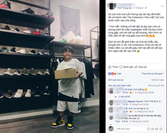 Bộ sưu tập giày cực khủng của cậu bé ở TP.HCM gây bão - 2