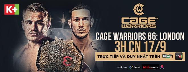Fan võ thuật Việt Nam sẽ được theo dõi giải MMA Cage Warriors - 1