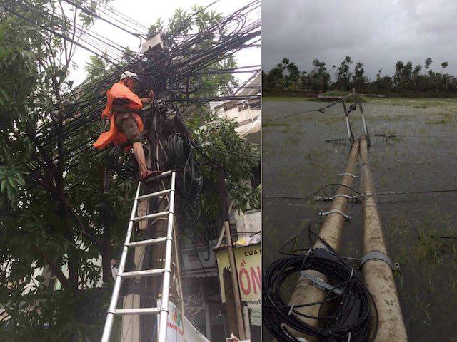 Thông tin mới vụ bão số 10 gây đứt cáp quang internet Bắc - Nam