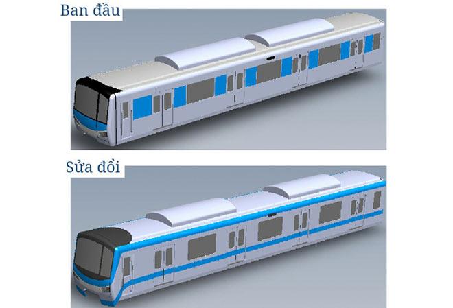 Lộ diện mẫu thiết kế tàu metro Sài Gòn mô phỏng đầu máy bay - 1