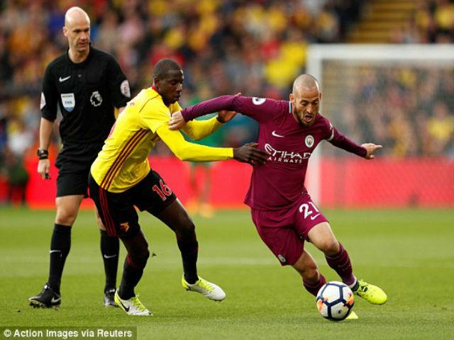 Video, kết quả bóng đá Watford - Man City: Siêu sao tỏa sáng, vùi dập trong 10 phút