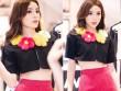 Hoa hậu Kỳ Duyên mặc áo ngắn cũn, lộ vòng eo chẳng tày gang