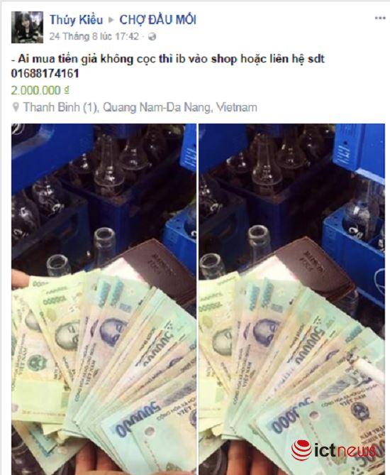 Mua tiền giả trên Facebook dễ như… mua rau - 5