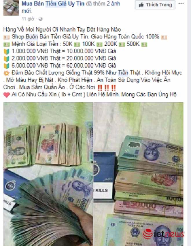 Mua tiền giả trên Facebook dễ như… mua rau - 8
