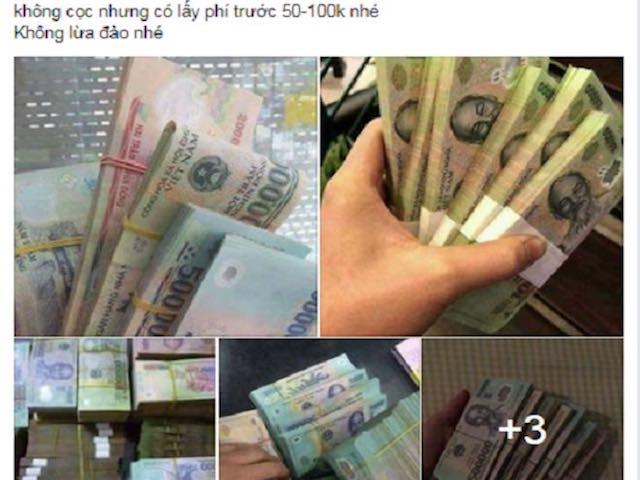 Mua tiền giả trên Facebook dễ như… mua rau