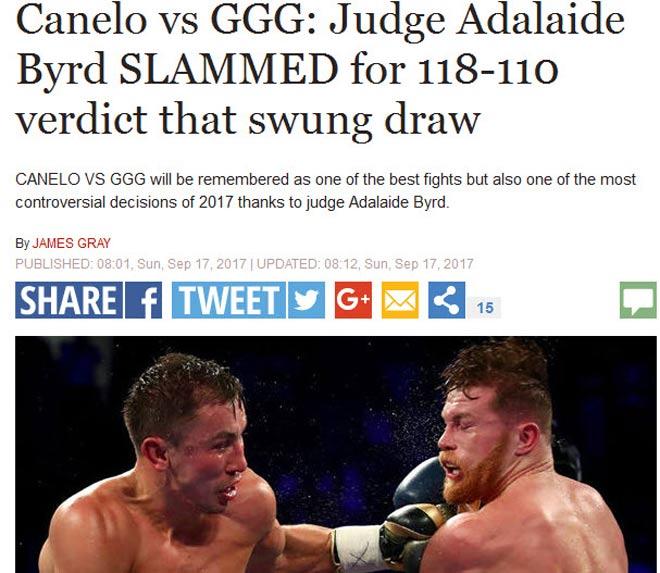 Bê bối boxing Golovkin-Alvarez: Trọng tài gây sốc, cả thế giới la ó - 2