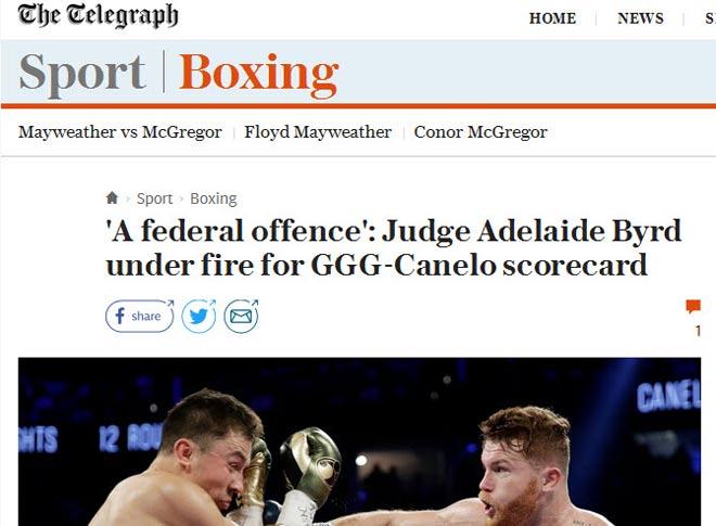 Bê bối boxing Golovkin-Alvarez: Trọng tài gây sốc, cả thế giới la ó - 3