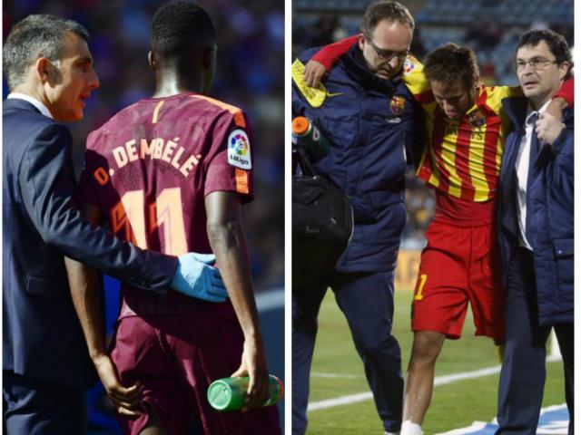 """""""Bom tấn"""" Dembele gặp họa như Neymar nghỉ 4 tháng, Barca lo ngay ngáy"""
